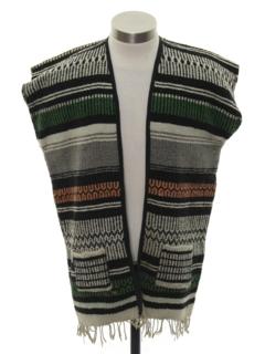 1970's Unisex Hippie Poncho Style Vest