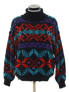 1980's Womens Totally 80s Cosby Sweater