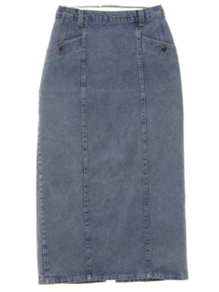 1990's Womens Denim Skirt