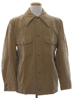 1970's Mens Faux Suede Western Leisure Jacket