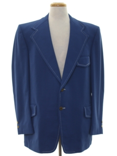 1970's Mens Polyester Disco Blazer Sport Coat Jacket