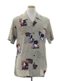 1990's Mens Asian Style Hawaiian Shirt