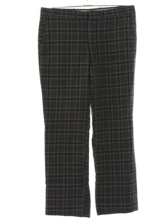1960's Mens Mod Plaid Slacks Pants