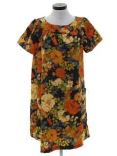 1960's Womens Hippie Muu Muu Dress