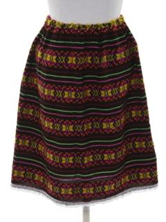 1970's Womens Guatemalan Style Hippie Skirt