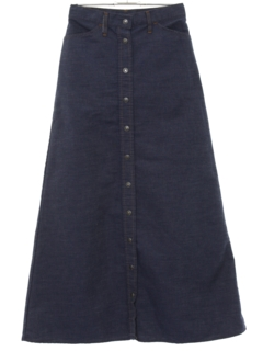 1970's Womens Levis Maxi Denim Skirt