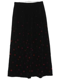 1960's Womens Mod Velvet Maxi Skirt