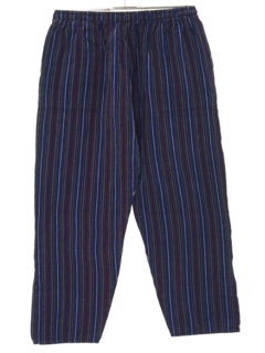 1980's Unisex Guatemalan Style Cropped Baggy Hippie Pants
