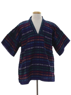 1970's Mens Guatemalan Style Hippie Shirt
