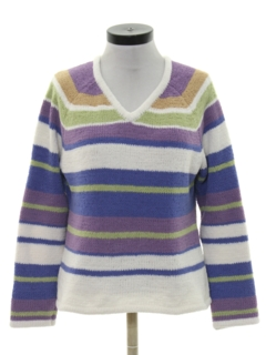 1980's Womens Knit Sweater Shirt