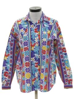 1990's Womens Western Print Shirt