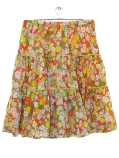 1960's Womens Hippie Square Dance Skirt