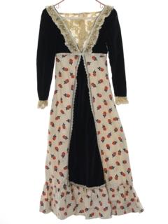 1970's Womens/Girls Prairie Style Hippie Dress
