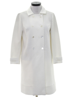 1960's Womens Mod Knit Coat Jacket Dress