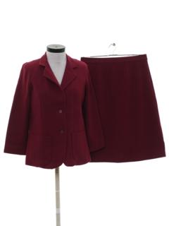 1970's Womens Secretary Style Suit