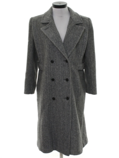 1980's Womens Wool Coat Jacket