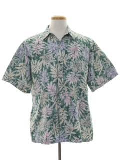 1980's Mens Hawaiian Reverse Print Shirt
