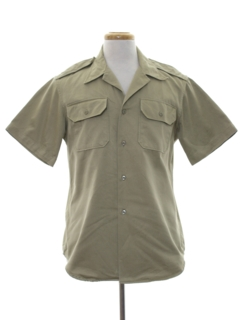 1980's Mens Army Safari Style Shirt