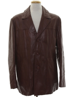 1970's Mens Leisure Style Leather Jacket