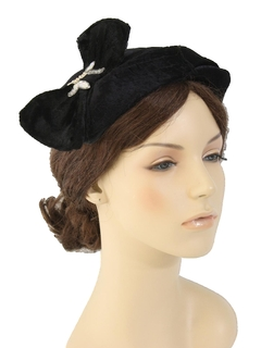 1960's Womens Accessories - Half Hat