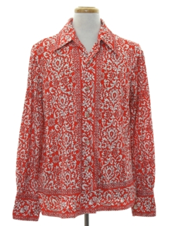 1970's Mens Designer Print Disco Shirt