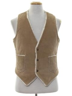 1970's Mens Corduroy Vest