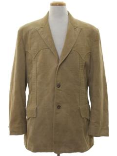 1960's Mens Western Corduroy Blazer Sportcoat Jacket