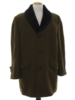 1960's Mens Mod Car Coat Style Overcoat Jacket