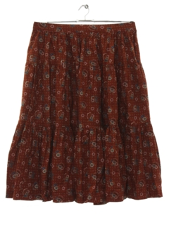 1970's Womens Designer Hippie Skirt