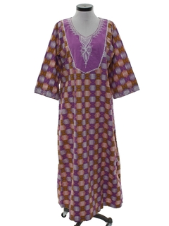 1990's Womens Caftan Hippie Dress