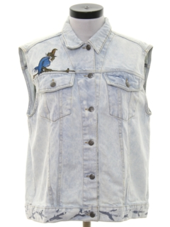 1980's Womens Hippie Jean Vest
