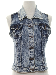 1990's Womens or Girls Denim Vest