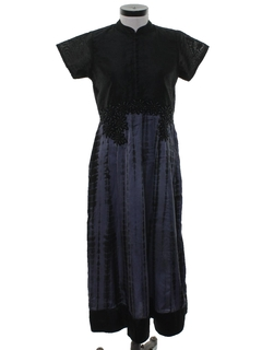 1980's Womens Hippie Cocktail Dress