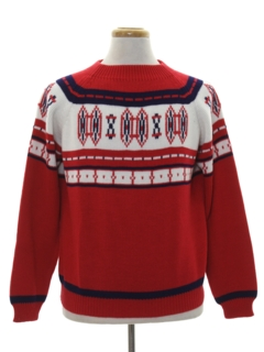 1970's Mens Vintage Ski Sweater