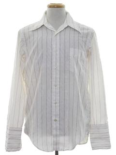1970's Mens Cotton Blend Print Disco Style Shirt