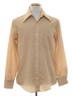 1970's Mens Solid Disco Shirt