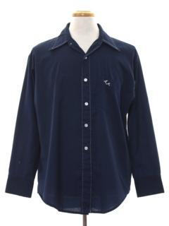 1960's Mens Mod Monogrammed E.M. Shirt
