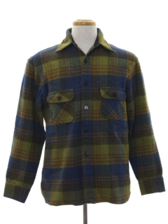 1960's Mens CPO Board Style Shirt Jacket