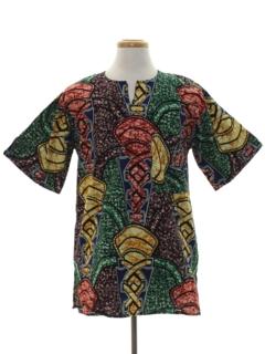 1970's Unisex Ethnic African Hippie Style Shirt