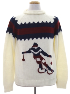 1960's Mens Vintage Ski Sweater