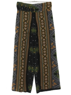 1970's Womens Cropped Hippie Pants
