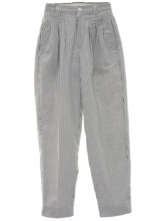 1980's Womens Totally 80s High Waisted Pinstriped Slacks Pants