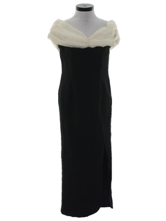 1980's Womens Maxi Wiggle Prom Or Cocktail Dress
