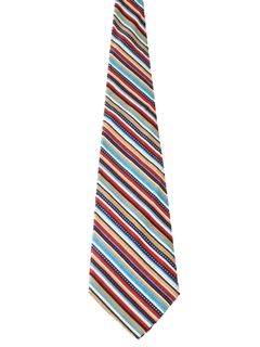 1960's Mens Mod Corduroy Wide Diagonal Striped Necktie