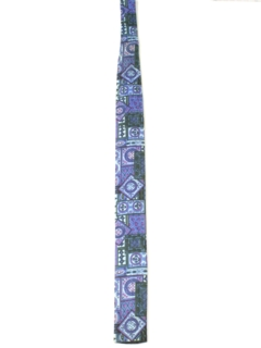 1950's Mens Skinny Rockabilly Square Bottom Necktie