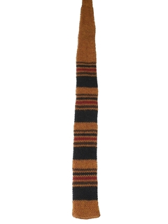 1960's Mens Knit Square Bottom Necktie