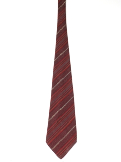 1940's Mens Wide Swing Diagonal Striped Necktie