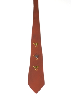 1940's Mens Hand Painted Swing Necktie