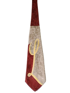 1940's Mens Wide Initial Swing Necktie