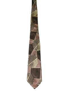 1950's Mens Abstract Geometric Wide Swing Necktie